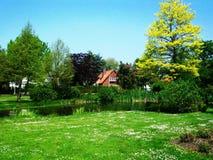 Park Wilhelminaplantsoen in Hoorn, Holland, Nederland stock foto's