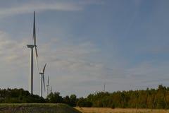 Park of wind-driven generators. In Estonia, Paldiski city Royalty Free Stock Image