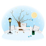 Park_winter Stock Photos