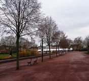 Park in winter, Metz Royalty Free Stock Photography