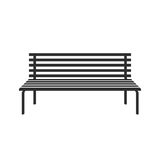 Park wooden bench icon  on white in flat style Royalty Free Stock Photography