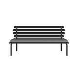 Park wooden bench icon  on white in flat style Royalty Free Stock Images