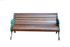 Park wooden bench isolated Royalty Free Stock Photos