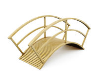 Park wooden bridge isolated on a white background. 3d rendering Royalty Free Stock Photos