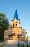 In park wooden protestant  the religious house Stock Image