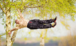 Park workout calisthenics Stock Photo