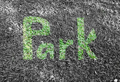 Park write made of grass Stock Photography