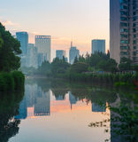 Park wzdłuż kanału Zdjęcie Royalty Free
