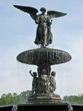 park york för central springbrunn för ängel ny Royaltyfria Bilder