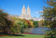 park york för central stad för höst ny Fotografering för Bildbyråer
