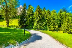 Park in Zagroje, Trakoscan scenery. Scenic view at public park in Zagorje region, Trakoscan landmark scenery Stock Photos