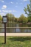 Park-Zeichen Stockfoto