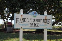 Park-Zeichen Dania Beach Franks C Tootie Adler Lizenzfreie Stockfotografie