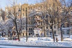 Park-Zentrale im Schnee Stockfoto