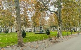Park Zrinjevac in center of Zagreb Stock Photo