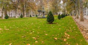 Park Zrinjevac in center of Zagreb Royalty Free Stock Photography