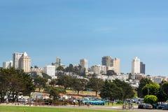 Parka i miasta widok Obrazy Stock