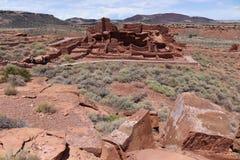 Parka Narodowego Wupatki osada w Arizona, usa obrazy royalty free