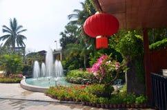 Parka tropicale Yanoda, île de la Chine Hinan Images stock