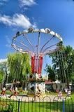 Parkanziehungskräfte und Unterhaltung Sunny Island in Krasnodar stockfotos
