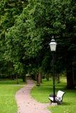 Parkbank Stockbild