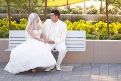 parkbröllop Arkivfoton