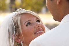parkbröllop Fotografering för Bildbyråer