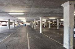 Parkdeck parking deck. Nearly empty parking deck with only few cars parking Royalty Free Stock Photo