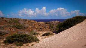 Parke Nacional Arikok Aruba Arkivfoton