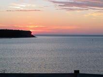 Parked along the coast of Cheticamp, Nova Scotia, Canda enjoyed stock image
