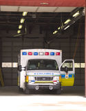 Parked Ambulance. An ambulance with a door open ready to leave at any minute Royalty Free Stock Photography