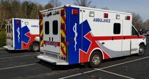 Parked Ambulances Stock Photos