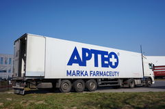 Parked Apteo truck Royalty Free Stock Photography