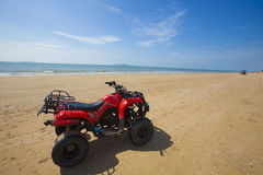 Parked atv. A atv paked in hainan sanya island Stock Images