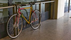 A parked bike at the 4th metro station in Budapest royalty free stock photo