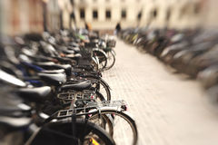 Parked bikes Stock Photo