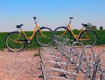 Parked bikes Royalty Free Stock Photo