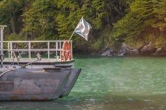 Parked Boat, Lago del Desierto, Patagonia - Argentina Royalty Free Stock Photos