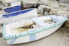 Parked boats Stock Photo