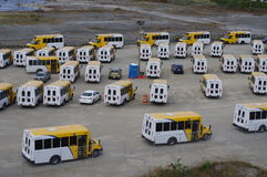 Parked buses Royalty Free Stock Photos