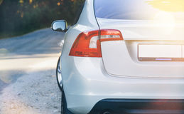 Parked the car on the curb side road. The car on the curb side road Stock Photography