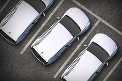 Parked Cars From Above Royalty Free Stock Image