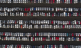 Parked cars Royalty Free Stock Images