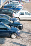 Parked cars Stock Images