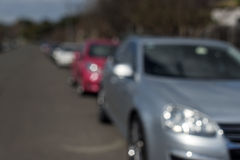 Parked cars Bokeh Royalty Free Stock Photography