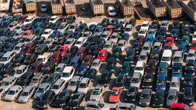 Parked Cars Royalty Free Stock Photos