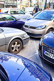 Parked cars Royalty Free Stock Photography