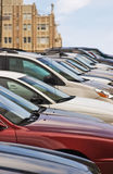 Parked Cars on Hill Royalty Free Stock Photo