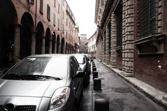 Parked cars in Italy Stock Photo