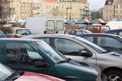 Parked cars Royalty Free Stock Image